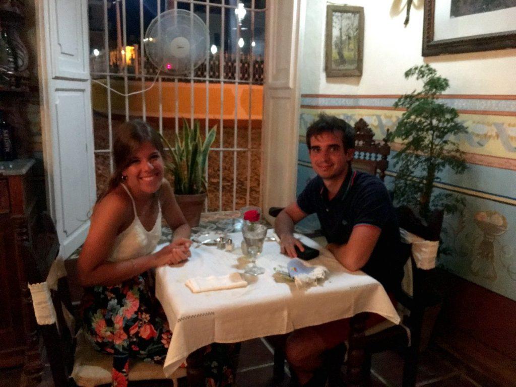 Cenando en Sol Ananda, Trinidad