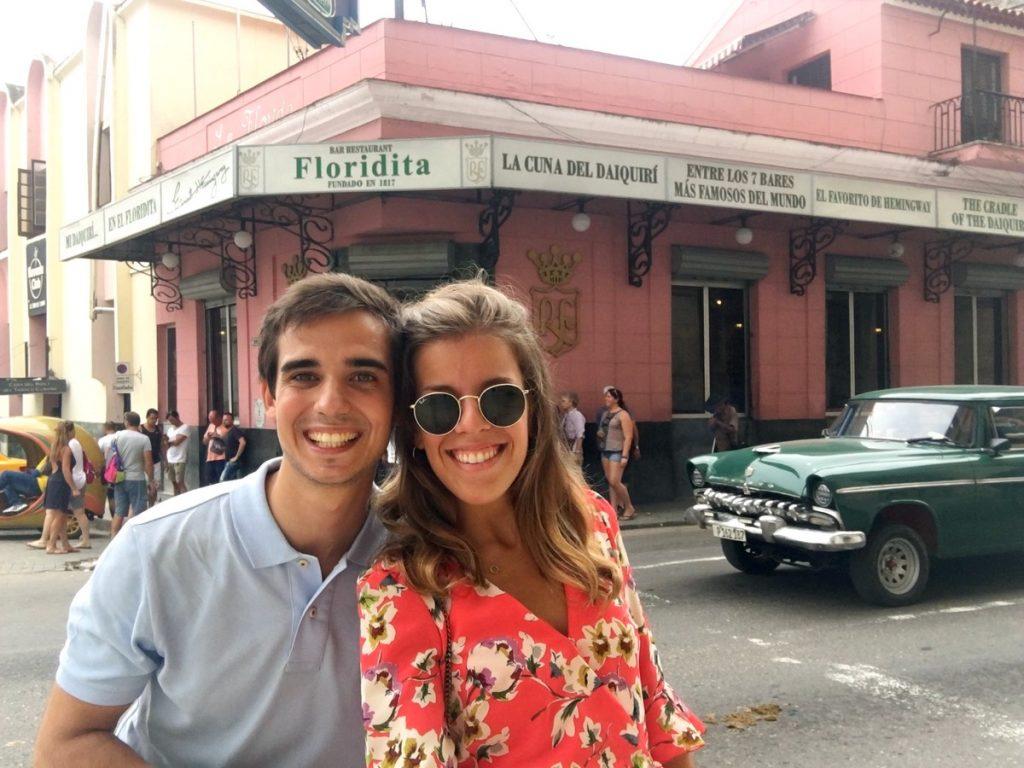 La fachada del Floridita, La Habana