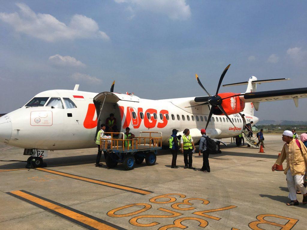 El avión que nos trajo a Borneo
