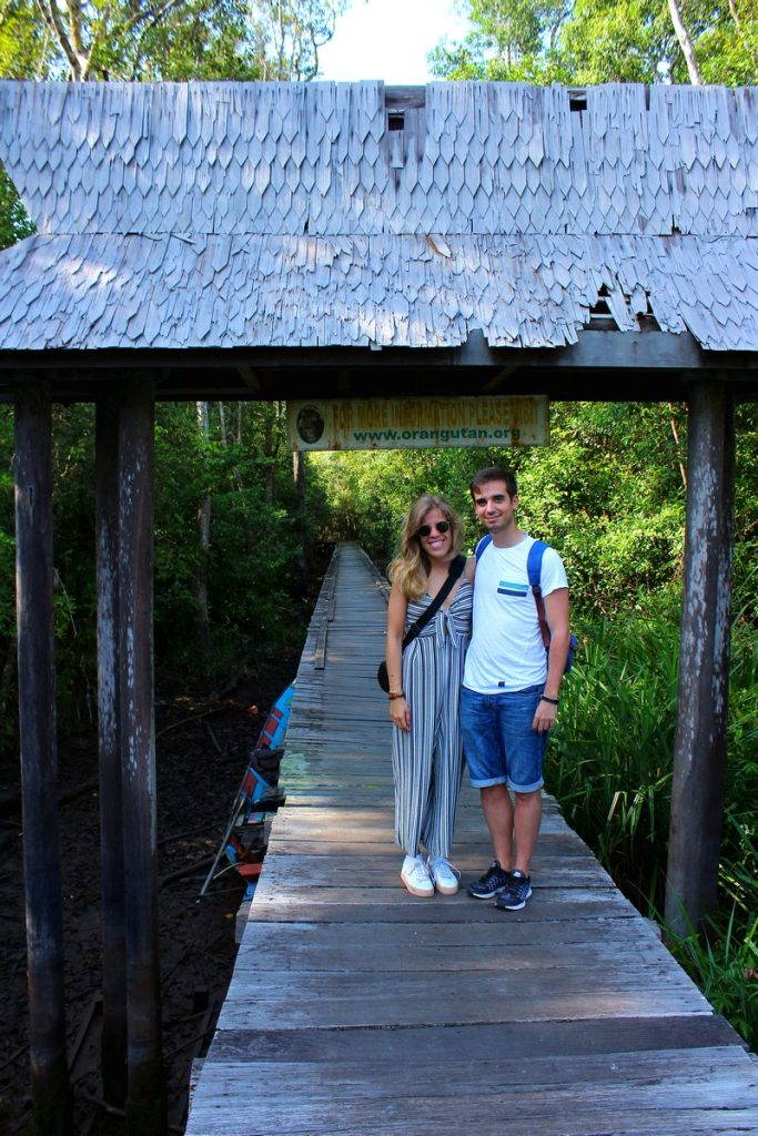 La pasarela de Camp Pondok Tangui