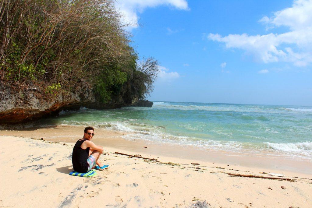 En Labuan Sait, la playa más famosa de nuestra ruta por Uluwatu
