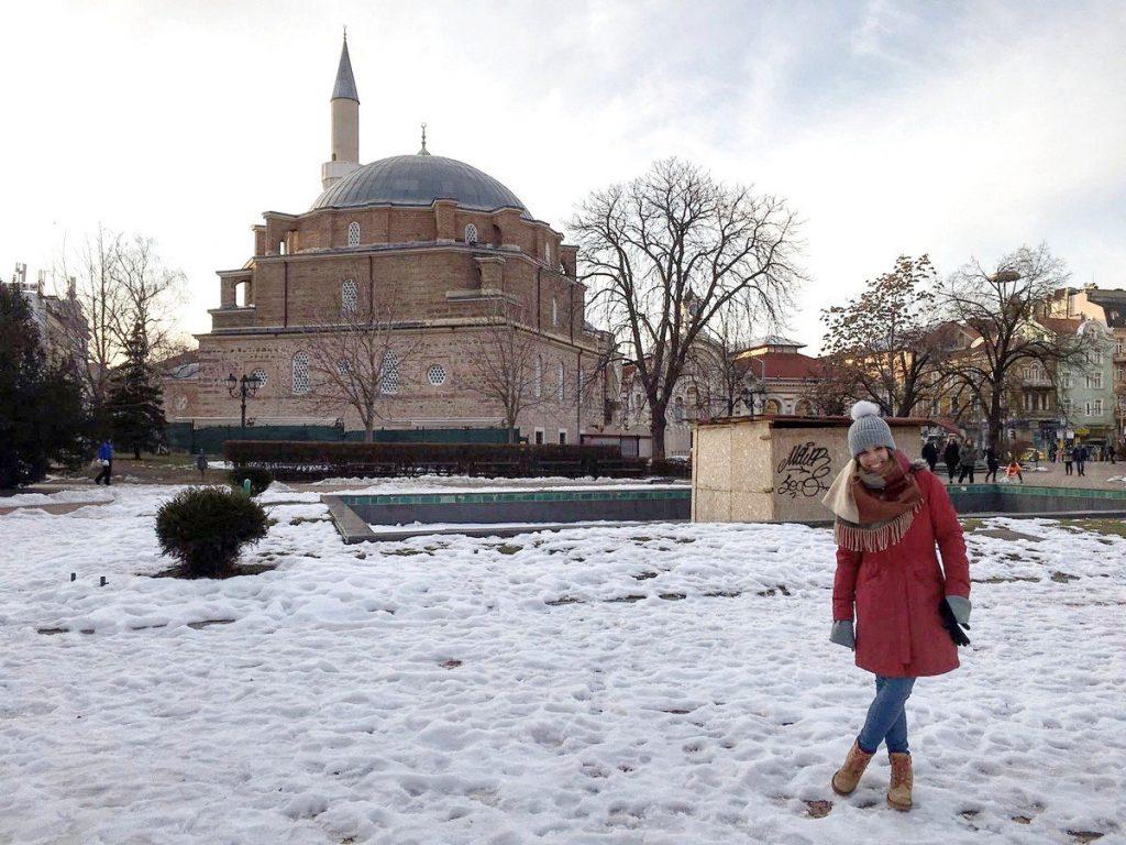 La Mezquita Banya Bashi desde los antiguos Baños Centrales