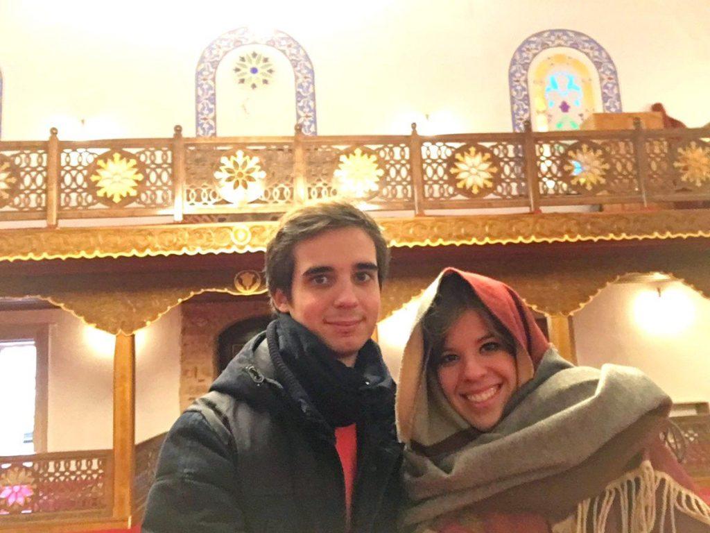 Dentro de la Mezquita Banya Bashi