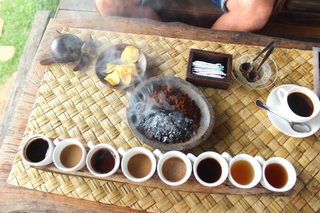 Desgustación de cafés en Bali Pulina