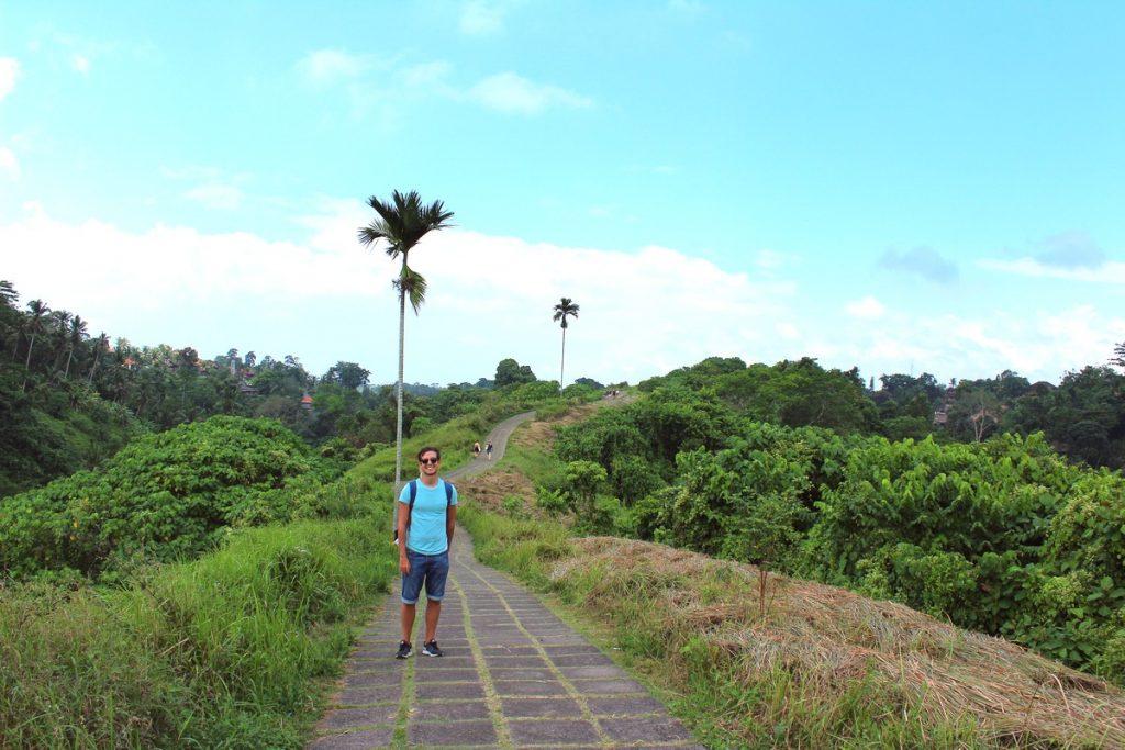 Con la palmera solitaria en Campuhan Rige Walk, Ubud