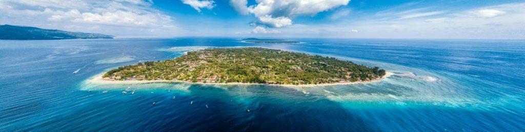 Vistas aéreas de las Islas Gili, Indonesia