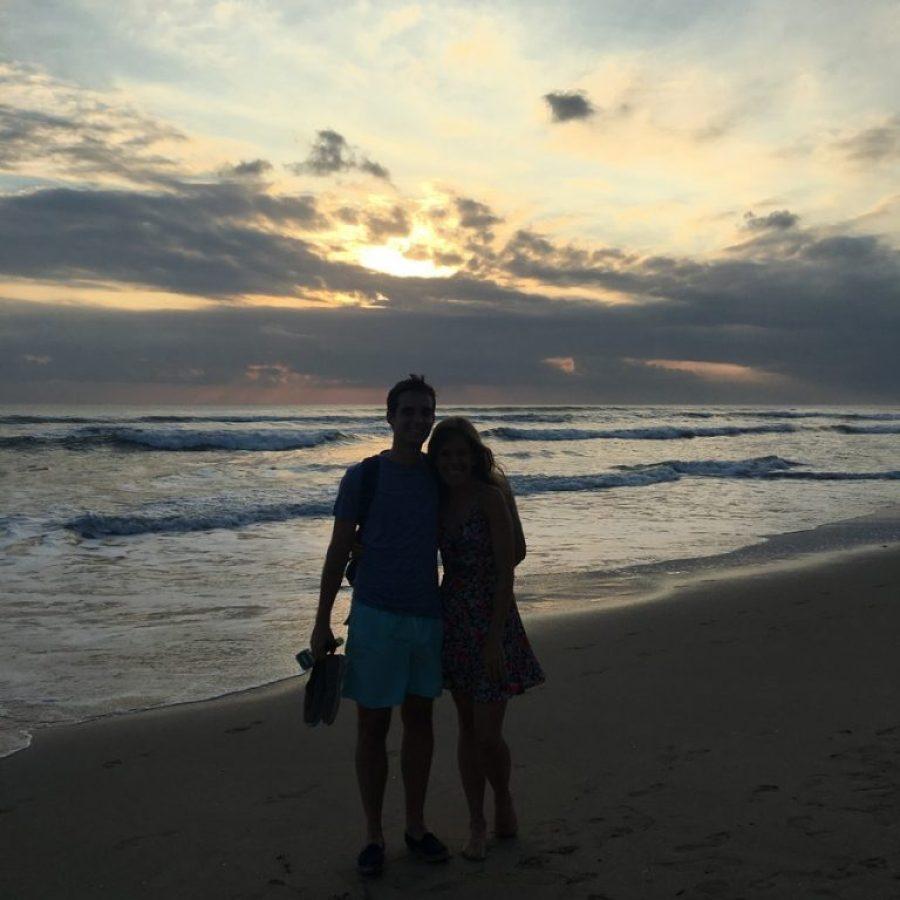 Paseando por la playa de Kuta