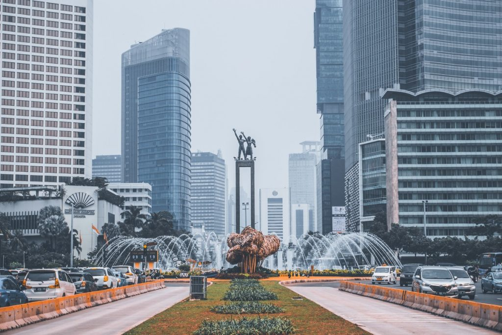 Los rascacielos de Yakarta, Indonesia