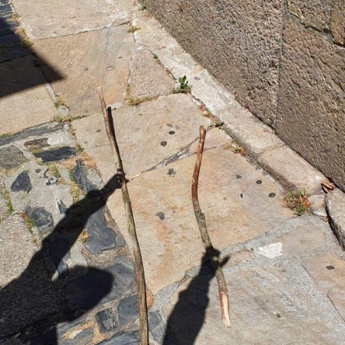 Los palos que nos acompañaron en el Camino de Santiago desde Sarria