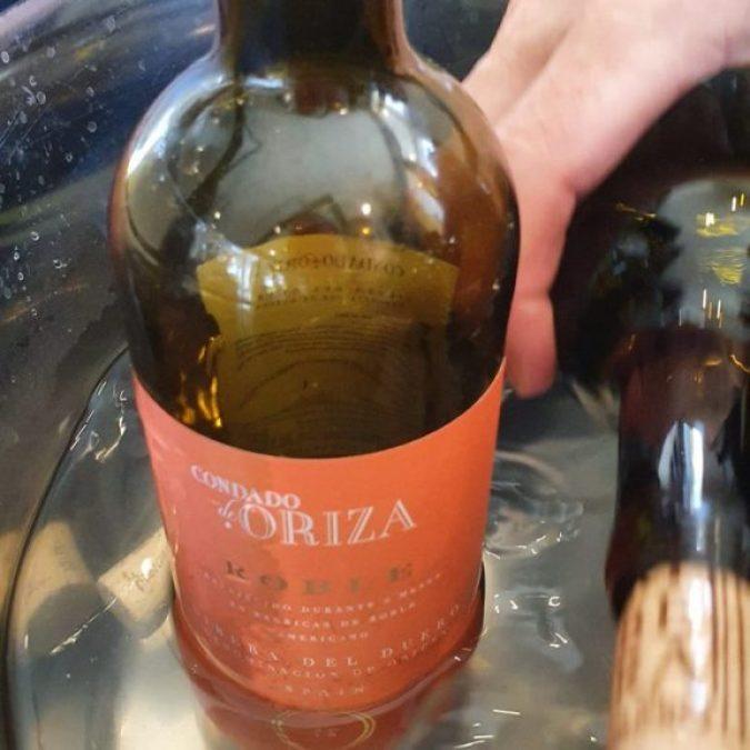 Un vino muy rico del restaurante Roma