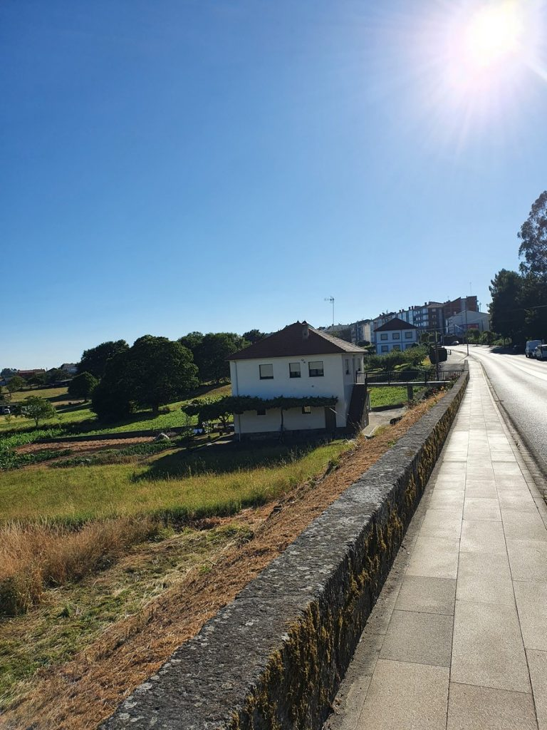 Llegando a Arzúa en el Camino de Santaigo