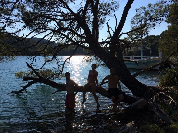Baño en el Veliko Jezero