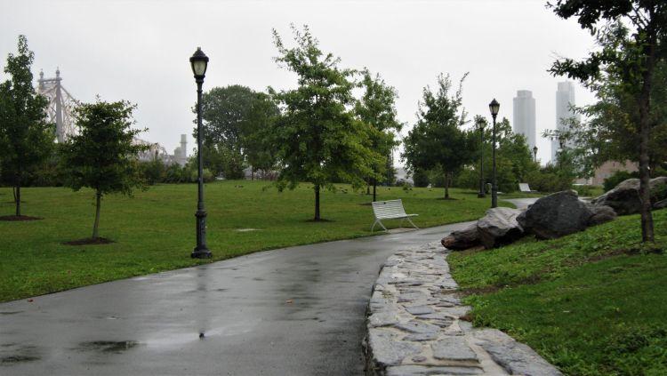 Parque en la isla de Roosevelt