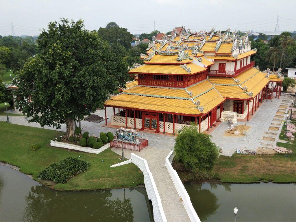 Residencia china desde la torre
