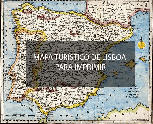 mapa de lisboa turistico Mapa turístico de Lisboa para imprimir   Viajar Lisboa mapa de lisboa turistico