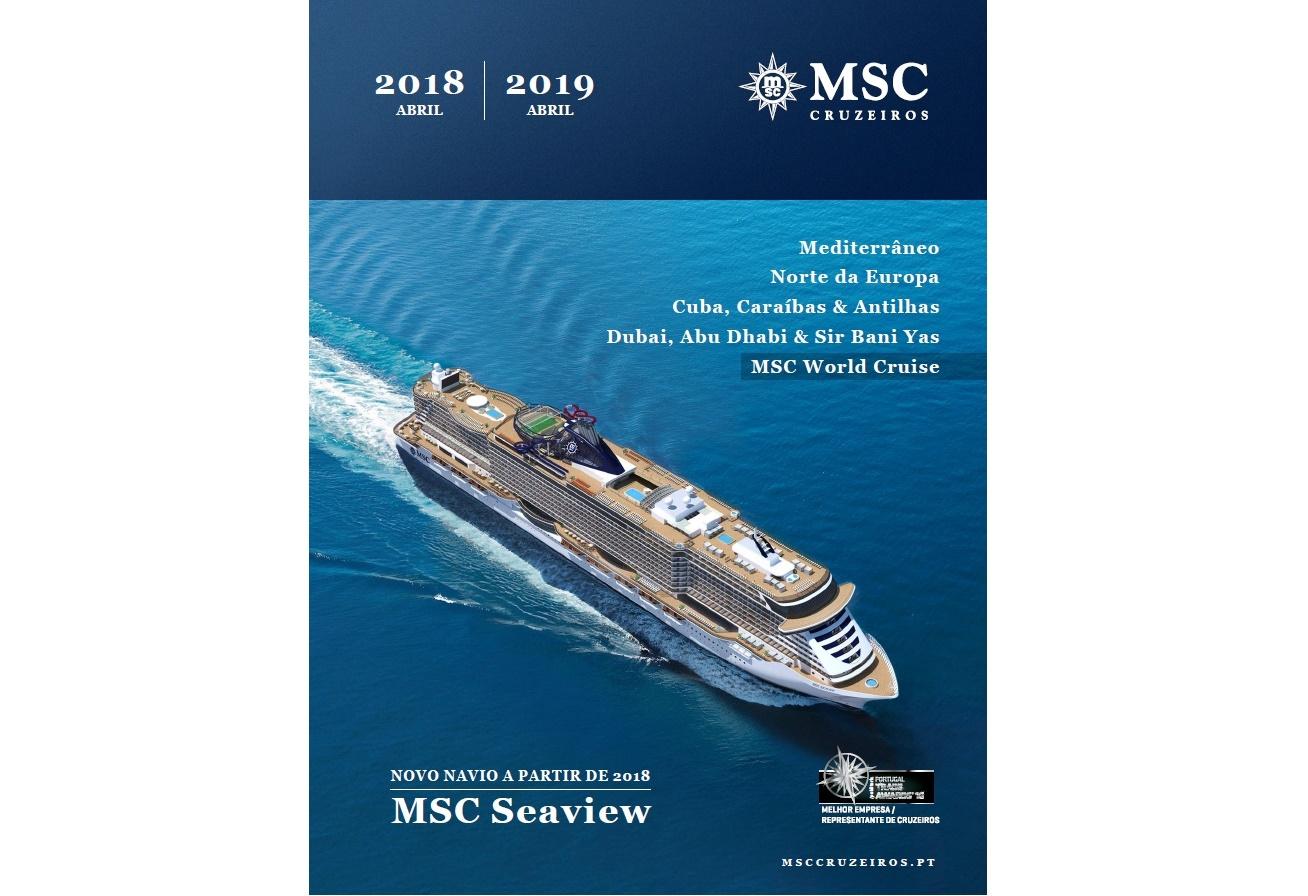 MSC Cruzeiros apresenta novo catálogo 2018-2019  36935bf6b01b8