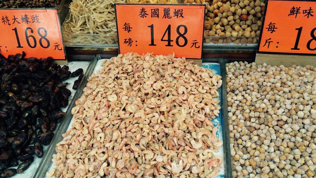 Camarones Disecados por peso en Hong Kong