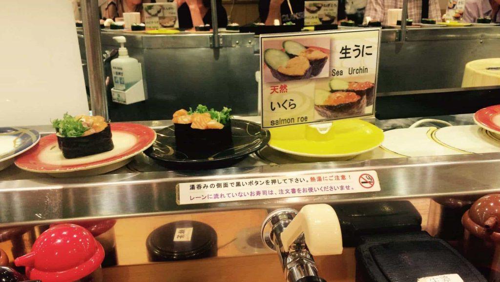 Comer en Japon Sushi Giratorio