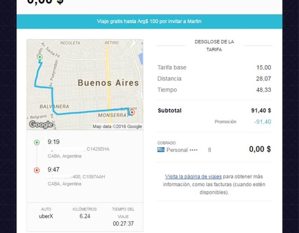 uber precios argentina