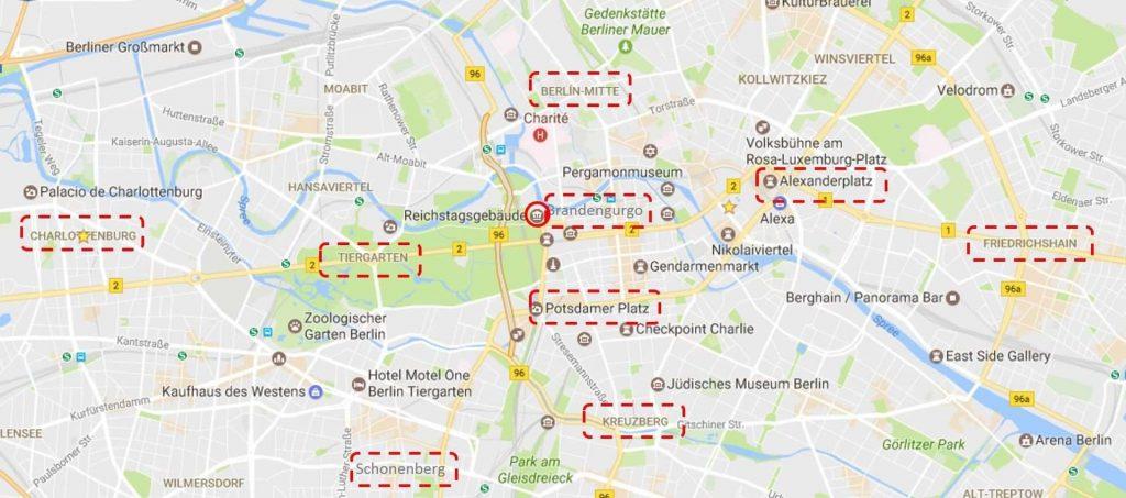mapa de barrios berlin