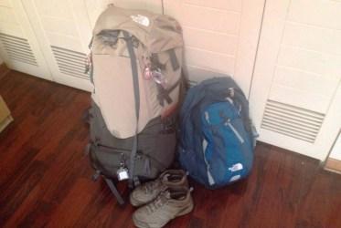 mochila de viaje north face tamaños