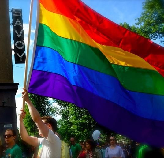 Gay pride Finlandia bandera gay