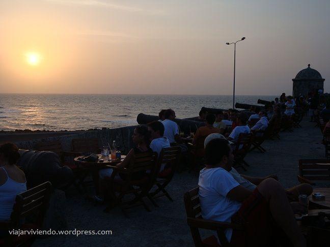 Atardecer en el mar - Cartagena