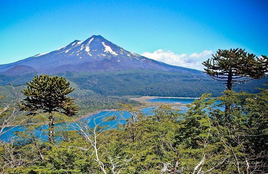 Volcan LLaima en el Parque Nacional Conguillio, Chile