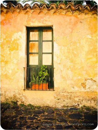 ventanas en Colonia del Sacramento