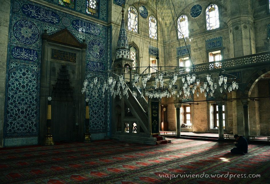 interior mezquita en estambul