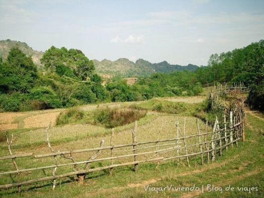 montañas birmania
