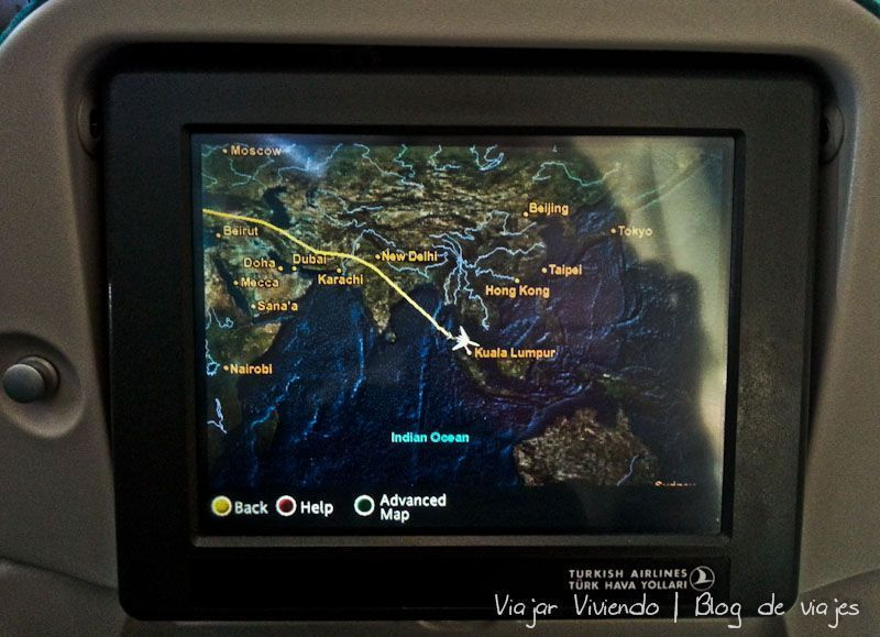 mapa avion kuala Lumpur