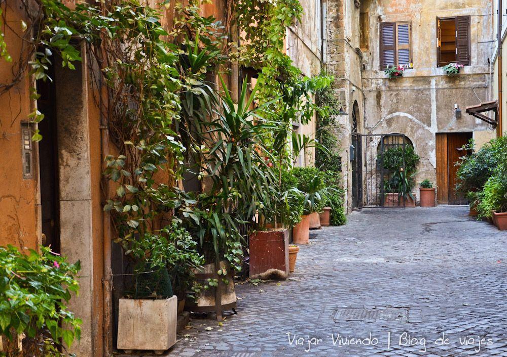 El barrio de Trastevere en Roma