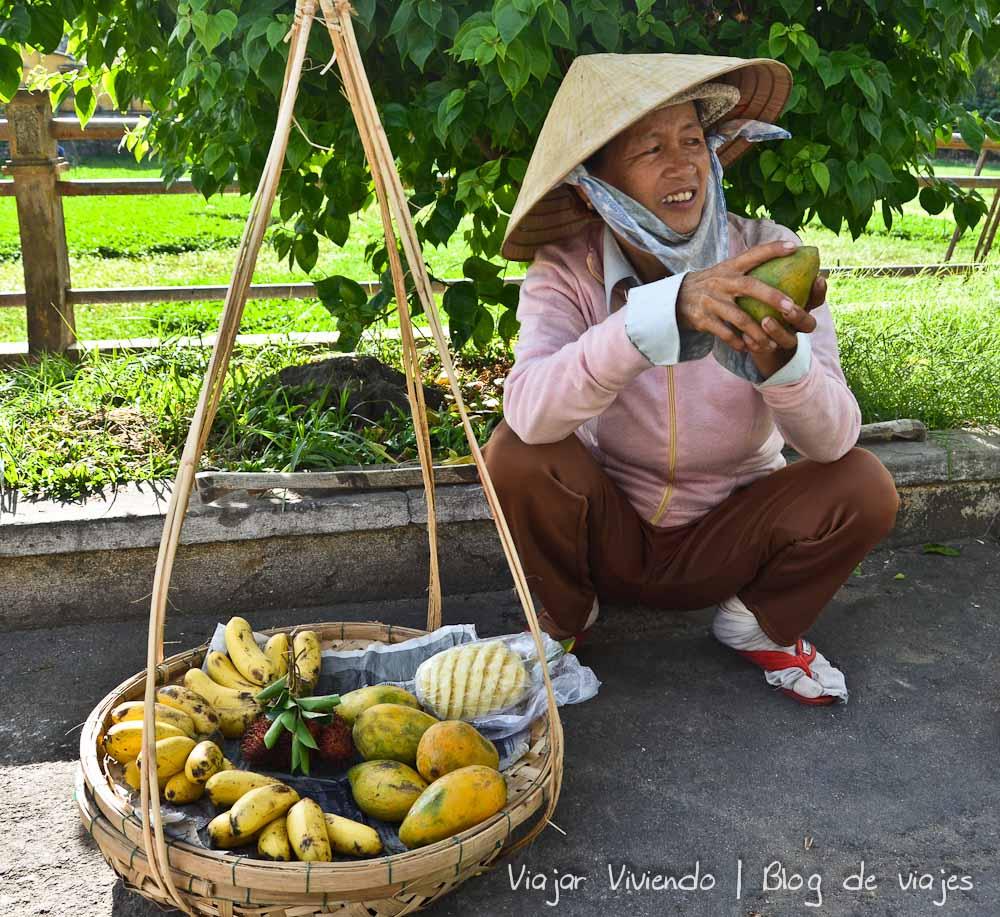 fruta mango vietnam vendedora