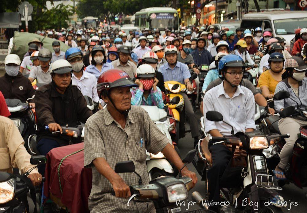 ho chi minh caos trafico motos - que ver en Vietnam