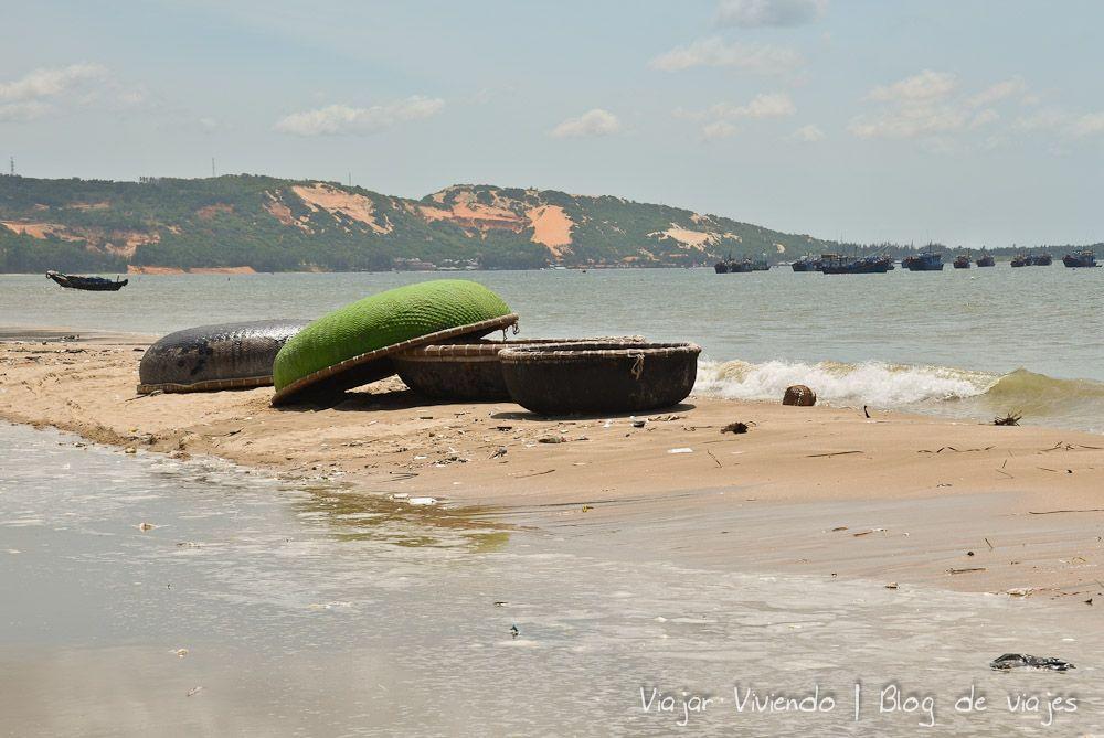 Mui Ne pescadores bote Vietnam