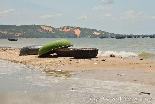 Mui Ne pescadores bote