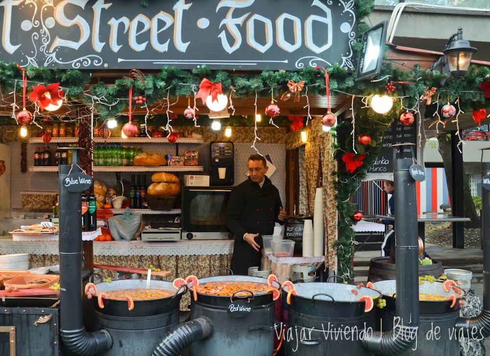 mercado navideño - viajar a budapest en otoño