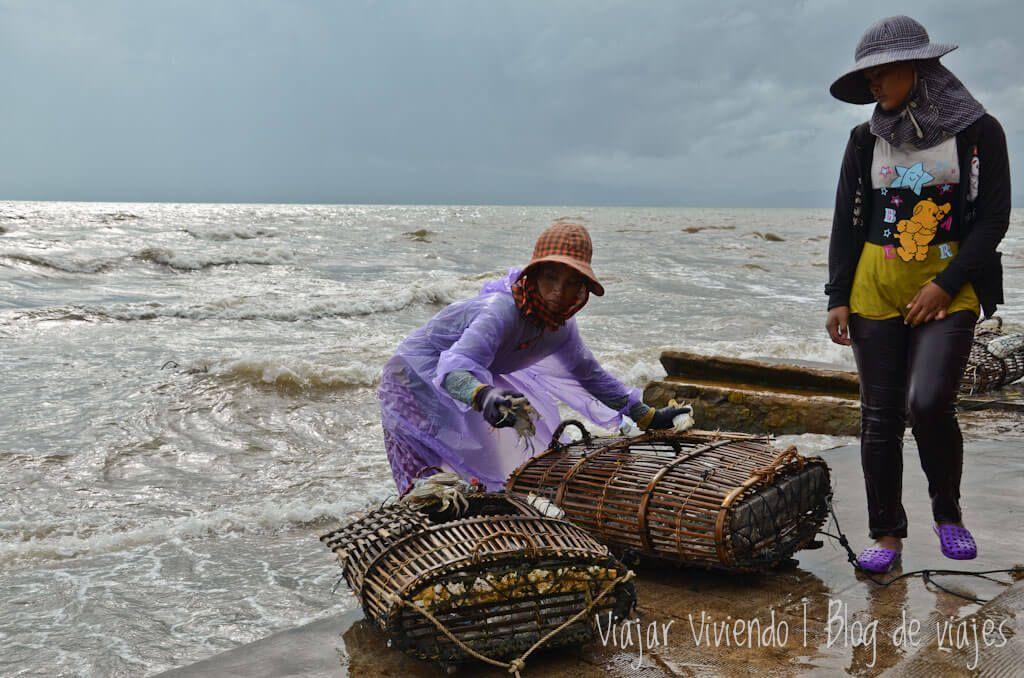 Crab Market - viajar a Kep, Camboya