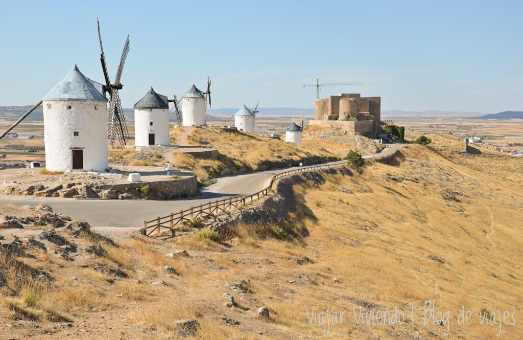 molinos de viento de Consuegra - recorrer el sur de España en auto