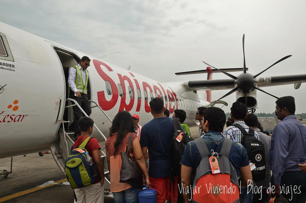 como llegar a maldivas desde India