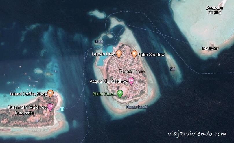 mapa Rasdhoo Maldivas