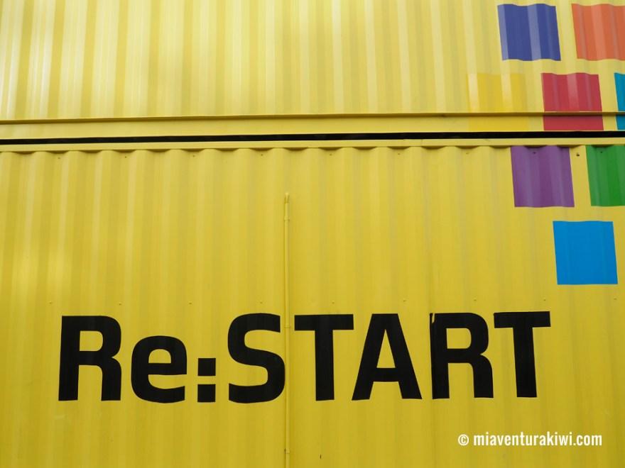 contenedores Christchurch Nueva Zelanda Re:Start