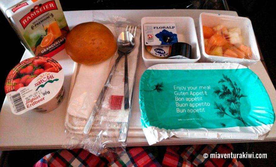 comida vuelo Nueva Zelanda