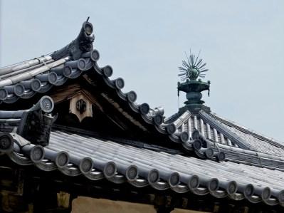 Detalle de un tejado en Horyu-Ji