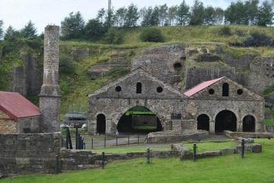 Antigua fábrica siderúrgica en Blaenavon