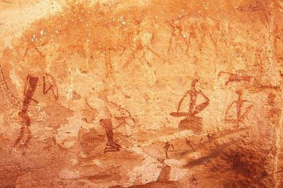 Petroglifos antropomorfos en Twyfelfontein