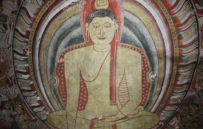 Pintura al fresco de Buda en Dambulla
