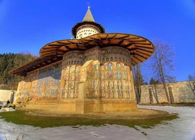 Exterior de la iglesia de Voronet