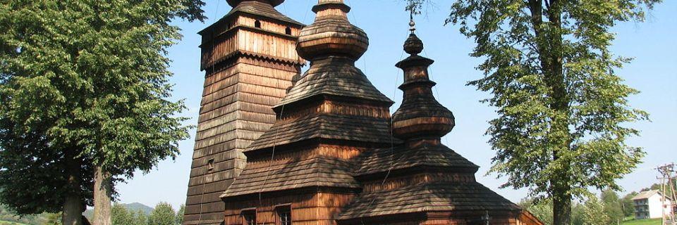 Tserkvas de madera de la región de los Cárpatos en Polonia y Ucrania
